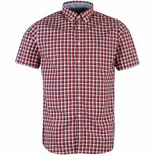 Tommy Hilfiger Mens Reza Shirt Collared Short Sleeve Top Button Fastening