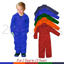 Kids Boiler suit Navy orange Royal Children Coverall Overall play suit dungarees