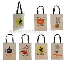Women Kids Handbag Shopping Canvas Tote Bag Shoulder Bags Halloween Decor Gift