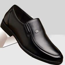 Fashion Mens pull on dress formal business wedding shoes plus size US7-12.5