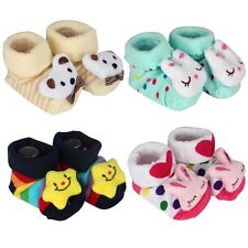 Newborn Baby Girl Boy Anti-slip Breathable Socks Cute Toddler Kids Cotton Boots