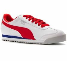353572-50 PUMA ROMA BASIC LEA WHITE/RED/GREY/BLUE CASUAL MEN SHOES SNEAKERS D