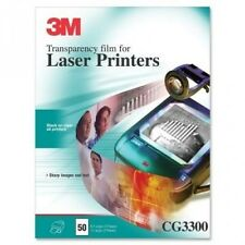 3M Laser Transparency Film, 50/Box, 20cm - 1.3cm x 28cm. Huge Saving