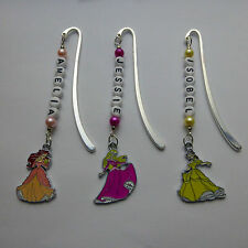 3x Personalised Disney Ariel,Aurora,Belle,Cinderella,Snow White,Mermaid Bookmark