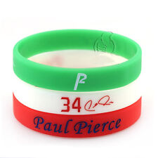 3pcs Paul Pierce 34 Silicone Wristband Rubber Bracelet Basketball Sport