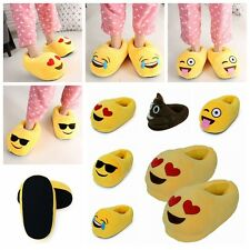Xmas Gift For Women Men Emoji Cute Unisex Warm Home Shoes Indoor Plush Slippers