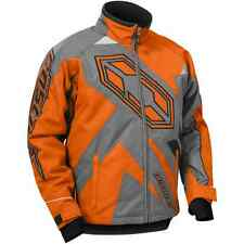 Castle X™ Youth Boy's Launch Insulated Snowmobile Jacket - Orange/Gray - 72-438_