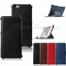 "Premium Synthetic Leather Filp  Hard Stand Case Cover iPhone 6 4.7"" 6 Plus 5.5"""