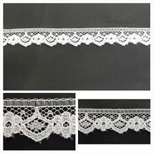 """10 / 50 yards white narrow scalloped edge lace trim 9/16""""W. L6-5 SHIP FROM USA"""