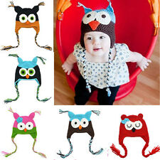 Baby Girl Toddler Infant Owls Knit Crochet Winter Hat Beanie Cap Cotton Hat JF