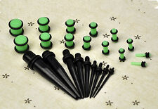 23 Pcs Ear Taper+ PLUG Kit Expander Set Stretchers 14G-00G 1.6mm-10mm Gauges