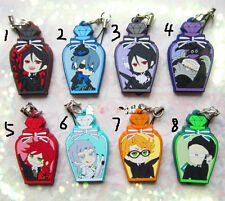 T178 Hot Japan anime Black Butler rubber Keychain Key Ring Rare straps cosplay