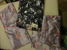 """JH SMITH SILK WOMENS 55"""" LONG SLEEPING GOWN BLUE OR PURPLE SIZE L, 2X AND 3X"""