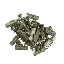 12 Sets Crimp Necklace Lobster Clasps Clips Ends Extender Chain Findings DIY