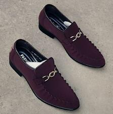 New Men's dress formal pull on pointy toe wedding shoes loafer