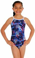 NEW! Salute Red, White, Blue Gymnastics Leotard by Snowflake Designs