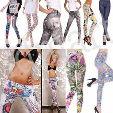 Sexy Stylish Womens Punk Funky Leggings Stretchy Tight Pencil Skinny Pants #E
