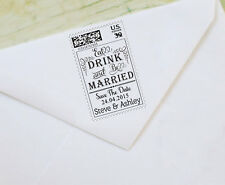 Custom Save The Date Rubber Stamp Unmounted Wood Mounted Stamp Design