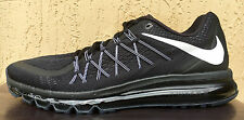 Mens Nike Full Air Max+ 2015 Mens Running Shoes Size 12 Black/White