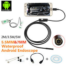 2M/3.5M/5M 6 LED Android Endoscope Borescope Waterproof Inspection Camera DP