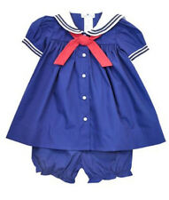 Girls Petit Ami Sailor Dress Navy Blue Girls Nautical Sailor Infant Toddler NWT