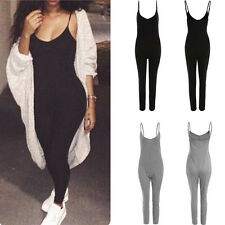 Sexy LADY Casual Halter OnePiece Jumper Long Pants Jumpsuit Overall Playsuit