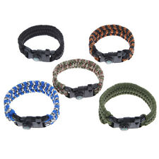 Outdoor Survival Bracelet Paracord With Compass Hiking Climbing Weaving Rope