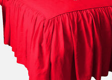 CHOOSE COLOR & DROP LENGTH SOLID KING DUST RUFFLE BED SKIRT 100% COTTON 1000TC