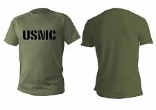 T shirt Mens dry fit short sleeve green olive army military men usa usmc marine