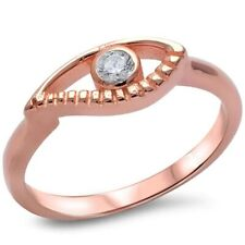 Evil Eye Ring Solid 925 Sterling Silver 0.25CT Pink,Rose Gold Russian CZ