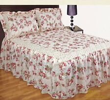 Designer Liberty Floral Quilted Modern Bedspread Set Quilted Comforter Throw