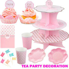 Tea Party Decoration Pack - Pink Party Supplies - FREE DELIVERY