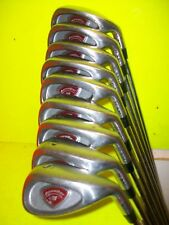 Ram Accubar iron set 3-4-5-6-7-8-9-wedge-sand wedge, in good condition