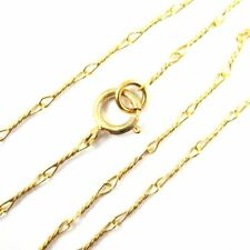 """22K Gold plated over Sterling Silver Necklace 6.7mm Fancy Twisted Link (16""""-36"""")"""