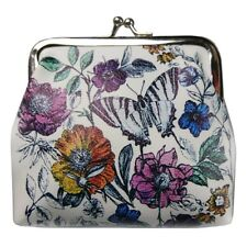 New Ladies Girls Butterfly Coin Purse Kiss Clasp Floral Clutch Womens Gift Novel