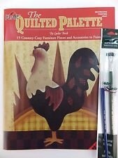 The Quilted Palette Decorative Painting Book by Leslie Beck w Opt Brushes U PICK