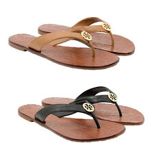 NEW Tory Burch Thora Tumbled Leather Thong Sandals