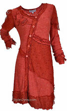 Pretty Angel Clothing Lady Renee Vintage Dress/Tunic In Rust S M L XL 10435