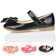 Kids Girl Children Bow Shoes Sweet Princess Dress Flats Students Soft