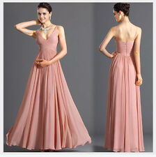 Women V-Neck Bridesmaid Cocktail Evening Dresses Wedding Party Prom Long  Dress