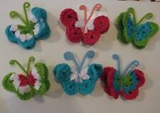 New Handmade crochet butterfly fridge refrigerator magnets choose colors made to