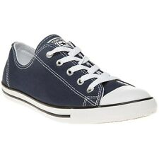 New Womens Converse Blue All Star Dainty Ox Canvas Trainers Lace Up