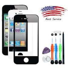 Front Screen Glass Lens Repair Replacement for Apple iPhone 4/4G /4S /Tools/Glue