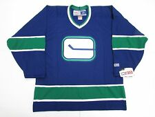 VANCOUVER CANUCKS HOCKEY STICK VINTAGE CCM HOCKEY JERSEY **MADE IN CANADA**
