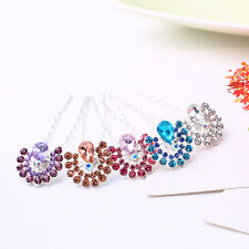 Fashion Bridal Wedding Prom Crystal Rhinestones Hair Pins Hair Sticks Clips