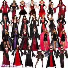 Ladies Halloween Vampire Queen Sexy Temptress Gothic Cape Fancy Dress Costume