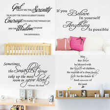 High Family Removable Art Vinyl Quote Wall Stickers Decal Words Mural Home Decor