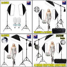 Photo Studio Video Soft Box Continuous Softbox Lighting Boom Arm Light Stand Kit