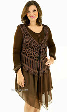 NWT Victorian Vintage Pretty Angel ARIANNA TWO PIECE DRESS IN COFFEE 10862