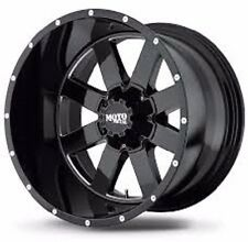 Moto Metal 962 20X12 6X135 F150 -44 Offset - Set of 4 new Wheels Black / Milled